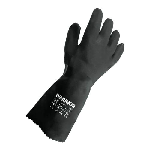 "Warrior 14"" Inch PVC Double Dipped Gloves - 6 Pairs"